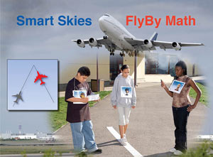 FlyBy Math with students demonstrating