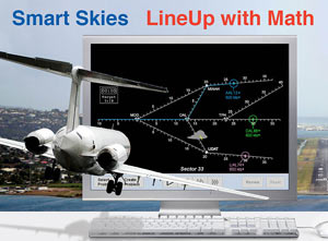 Smart Skies LineUp with Math - airplane flying into simulator screen